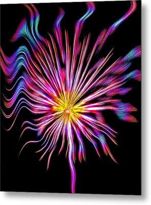 Fire Flower Abstract Metal Print by Steve Ohlsen