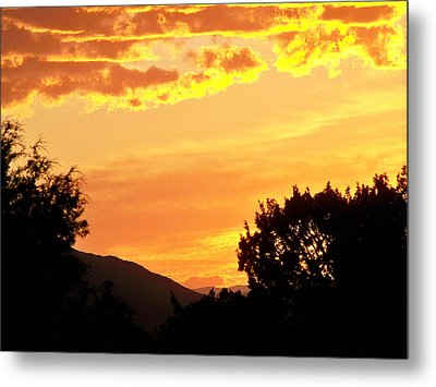 Fire In The Sky 1 Metal Print by Brian  Commerford