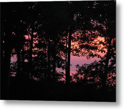 Fire On The Lake Metal Print