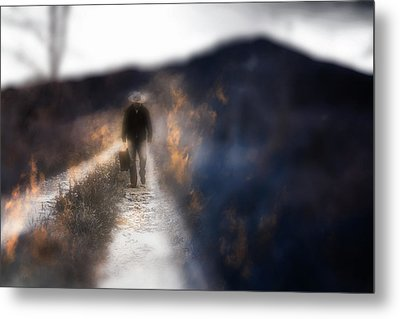 Fire Road Metal Print by Gray  Artus