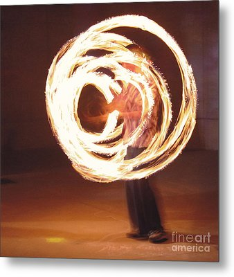Metal Print featuring the painting Fire Spinner 5 by Xn Tyler