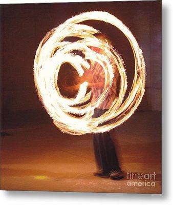 Fire Spinner 5 Metal Print by Xn Tyler