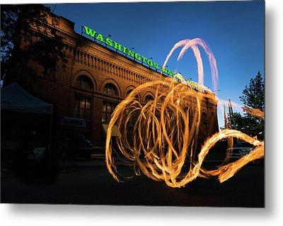 Firespinner Spokane Wa Metal Print