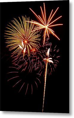 Fireworks 1 Metal Print by Michael Peychich