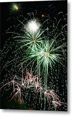Fireworks 4 Metal Print by Michael Peychich