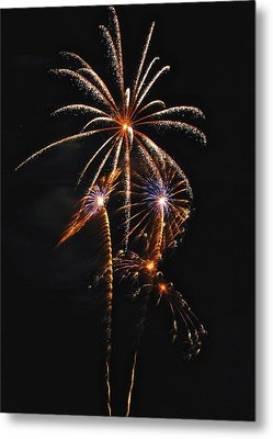 Fireworks 5 Metal Print by Michael Peychich