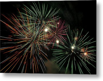 Fireworks Metal Print by Glenn Gordon