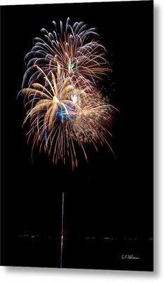 Fireworks IIi Metal Print by Christopher Holmes