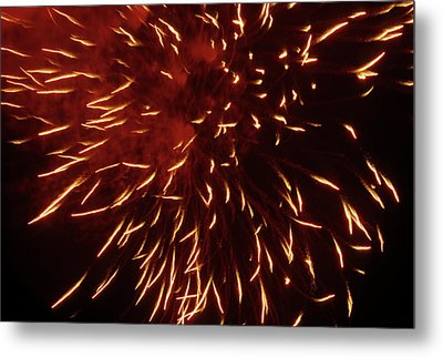 Fireworks Light Up The Sky While Celebrating Bastille Day Metal Print by Sami Sarkis