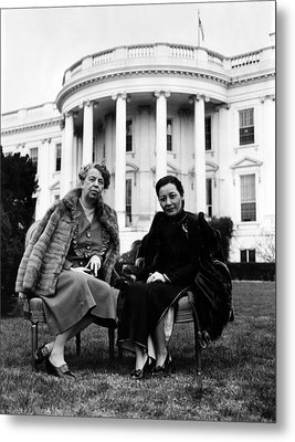 First Lady Eleanor Roosevelt, And Wife Metal Print by Everett