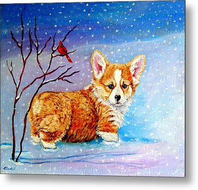 First Snow Metal Print by Lyn Cook