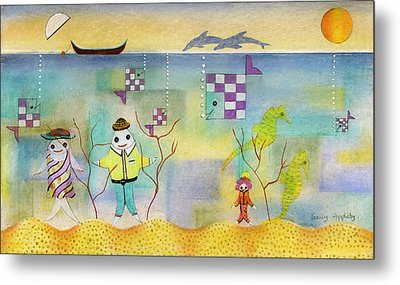 Fish Family Metal Print by Sally Appleby