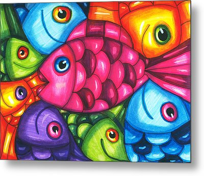 Fish Friends Metal Print