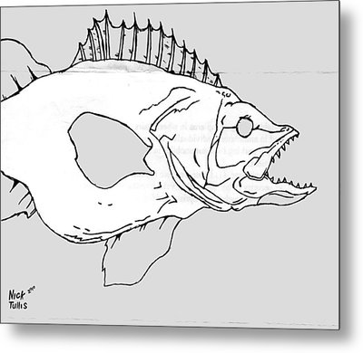 Fish Metal Print by Nicholas Tullis