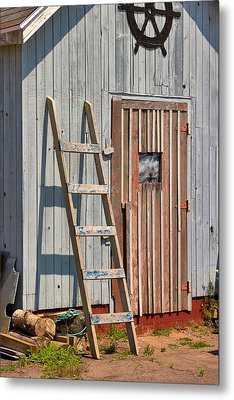 Fisherman's Shed In Prince Edward Island Metal Print by Louise Heusinkveld
