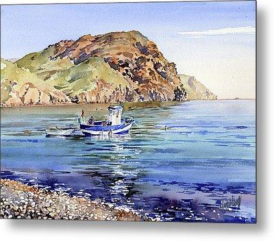 Fishing Boat At Las Negras Metal Print