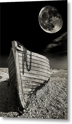 Fishing Boat Graveyard 3 Metal Print