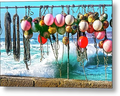 Metal Print featuring the photograph Fishing Buoys by Terri Waters