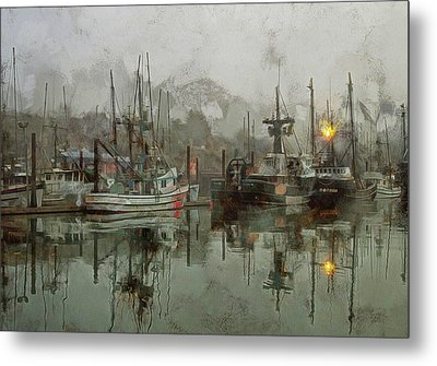 Fishing Fleet Dock Five Metal Print