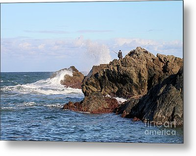 Metal Print featuring the photograph Fishing by Linda Lees