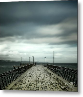 Metal Print featuring the photograph Fishing Pier by Perry Webster