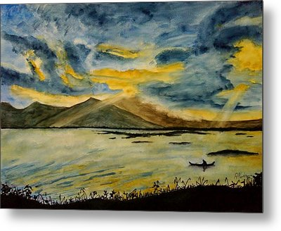 Fishing Metal Print by Ramon Martinez sanmarti