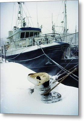 Fishing Trawler, Howth Harbour, Co Metal Print by The Irish Image Collection