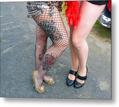 Fishnet And Tattoos Metal Print
