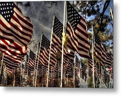 Metal Print featuring the photograph Flags Flags And More Flags by David Bishop