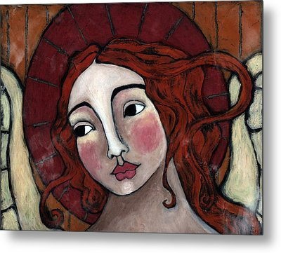 Flame-haired Angel Metal Print by Julie-ann Bowden