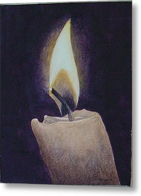 Flame Metal Print by Ron Sylvia