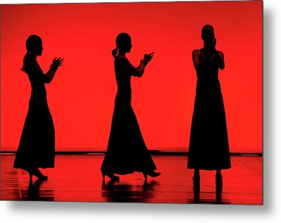 Flamenco Red An Black Spanish Passion For Dance And Rithm Metal Print