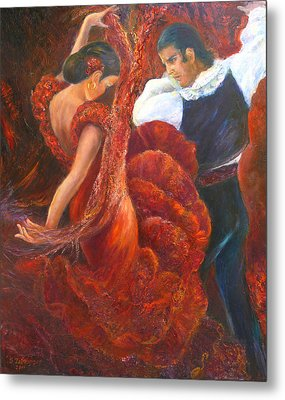 Flamenco Couple Fa Metal Print