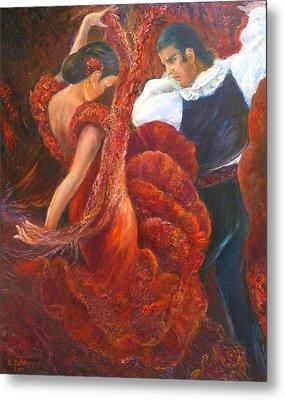 Flamenco Couple Metal Print