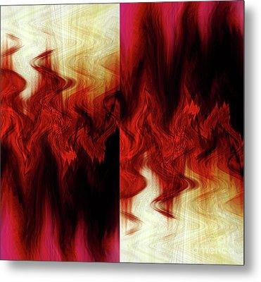 Flames Metal Print by Cherie Duran