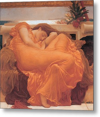 Flaming June - 1895 Metal Print by Lord Frederic Leighton
