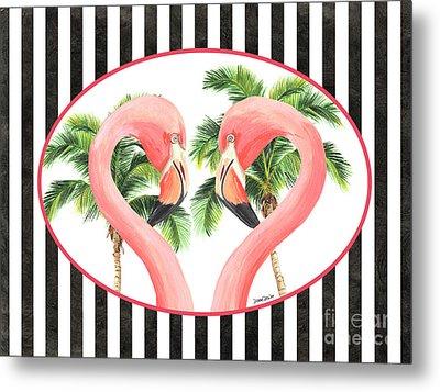 Flamingo Amore 5 Metal Print by Debbie DeWitt