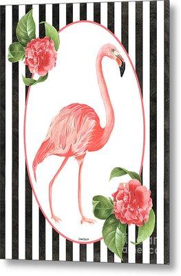 Flamingo Amore 6 Metal Print by Debbie DeWitt
