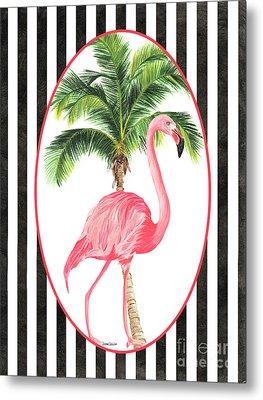 Flamingo Amore 7 Metal Print by Debbie DeWitt