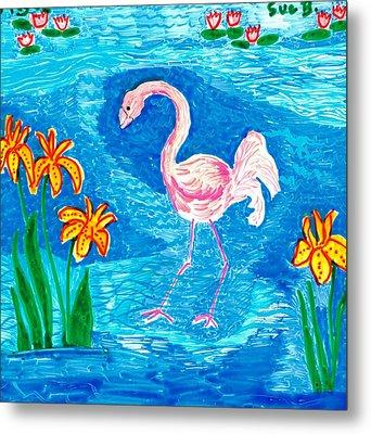 Flamingo Metal Print by Sushila Burgess