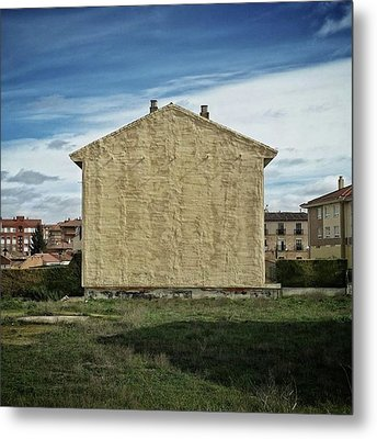 Flat House #architecture #building Metal Print by Rafa Rivas