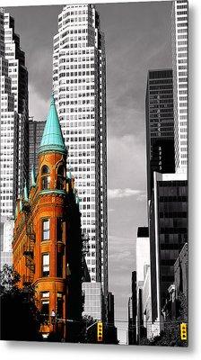 Flat Iron Building Toronto Metal Print by John  Bartosik