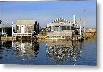 Metal Print featuring the photograph Fletchers Camp And The Little House Sandy Neck by Charles Harden