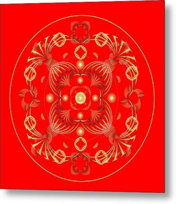Metal Print featuring the digital art Fleuron Composition No. 19 by Alan Bennington