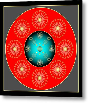Metal Print featuring the digital art Fleuron Composition No. 37 by Alan Bennington