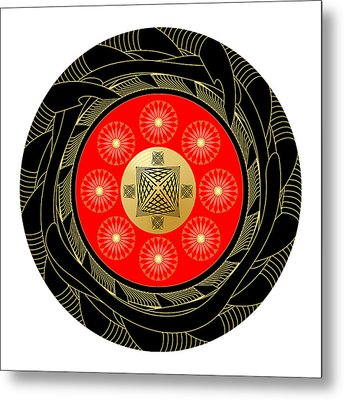 Metal Print featuring the digital art Fleuron Composition No. 44 by Alan Bennington