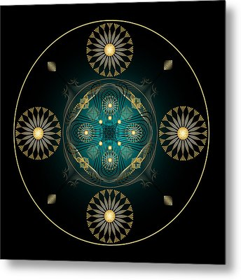 Metal Print featuring the digital art Fleuron Composition No. 59 by Alan Bennington