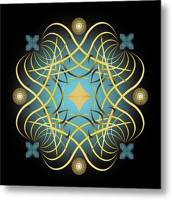 Metal Print featuring the digital art Fleuron Composition No. 60 by Alan Bennington