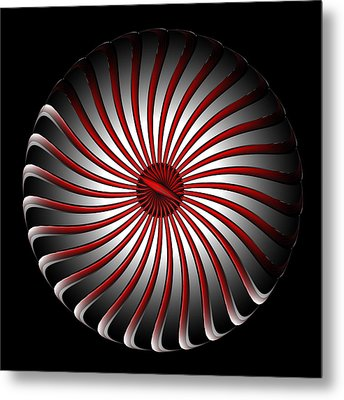 Metal Print featuring the digital art Fleuron Composition No. 78 by Alan Bennington