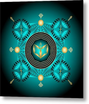 Metal Print featuring the digital art Fleuron Composition No. 84 by Alan Bennington